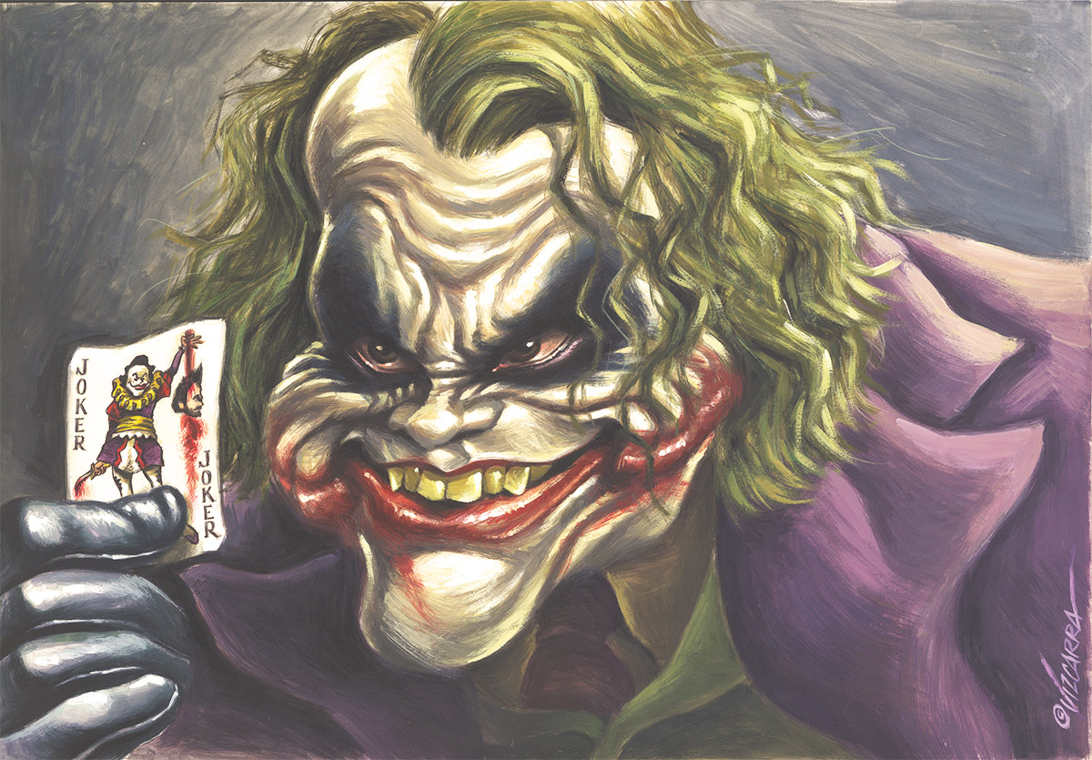 Heath Ledger / The Joker / Batman – corner4art