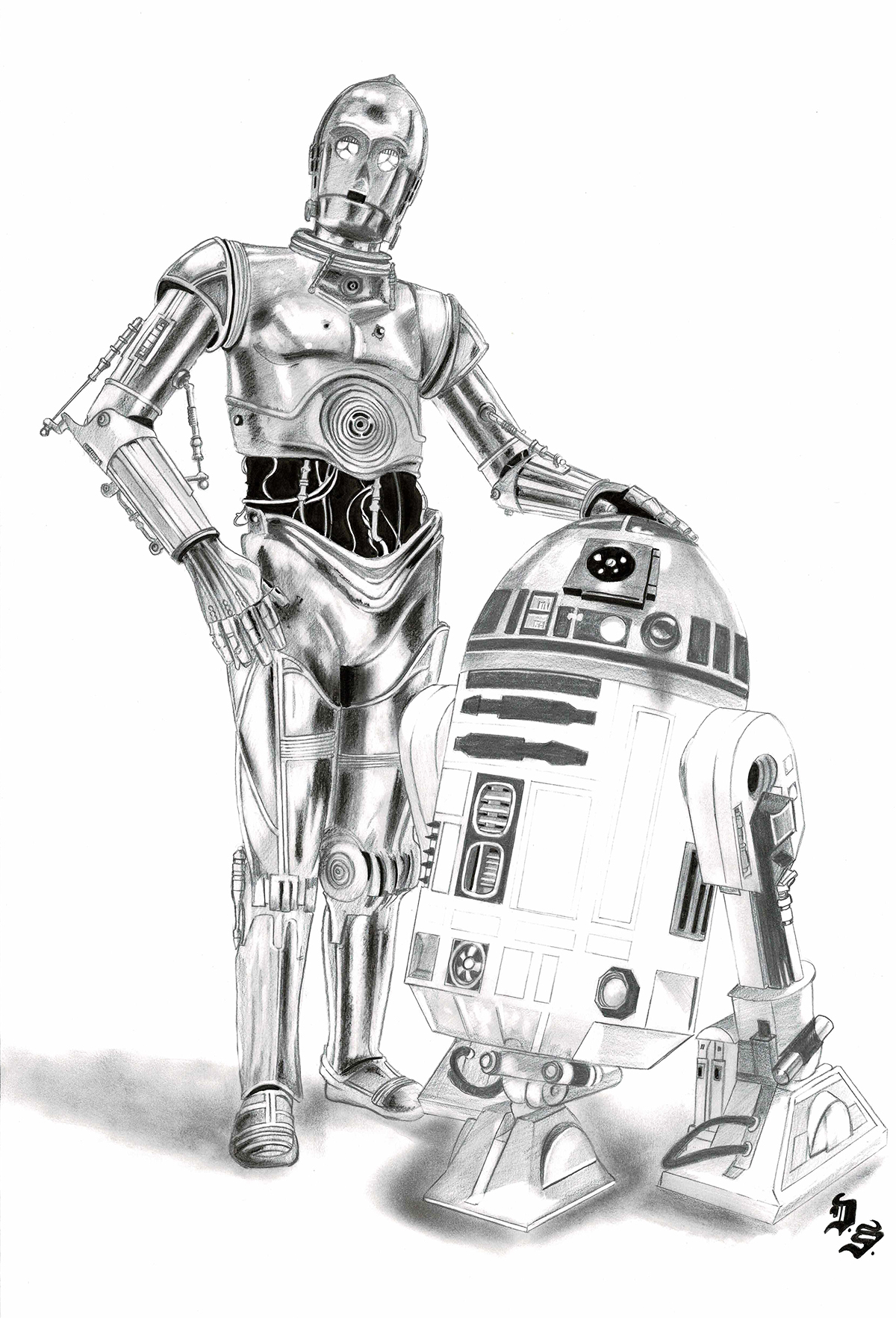 R2-D2 and C-3PO – Star Wars – corner4artR2d2 And C3po Drawing