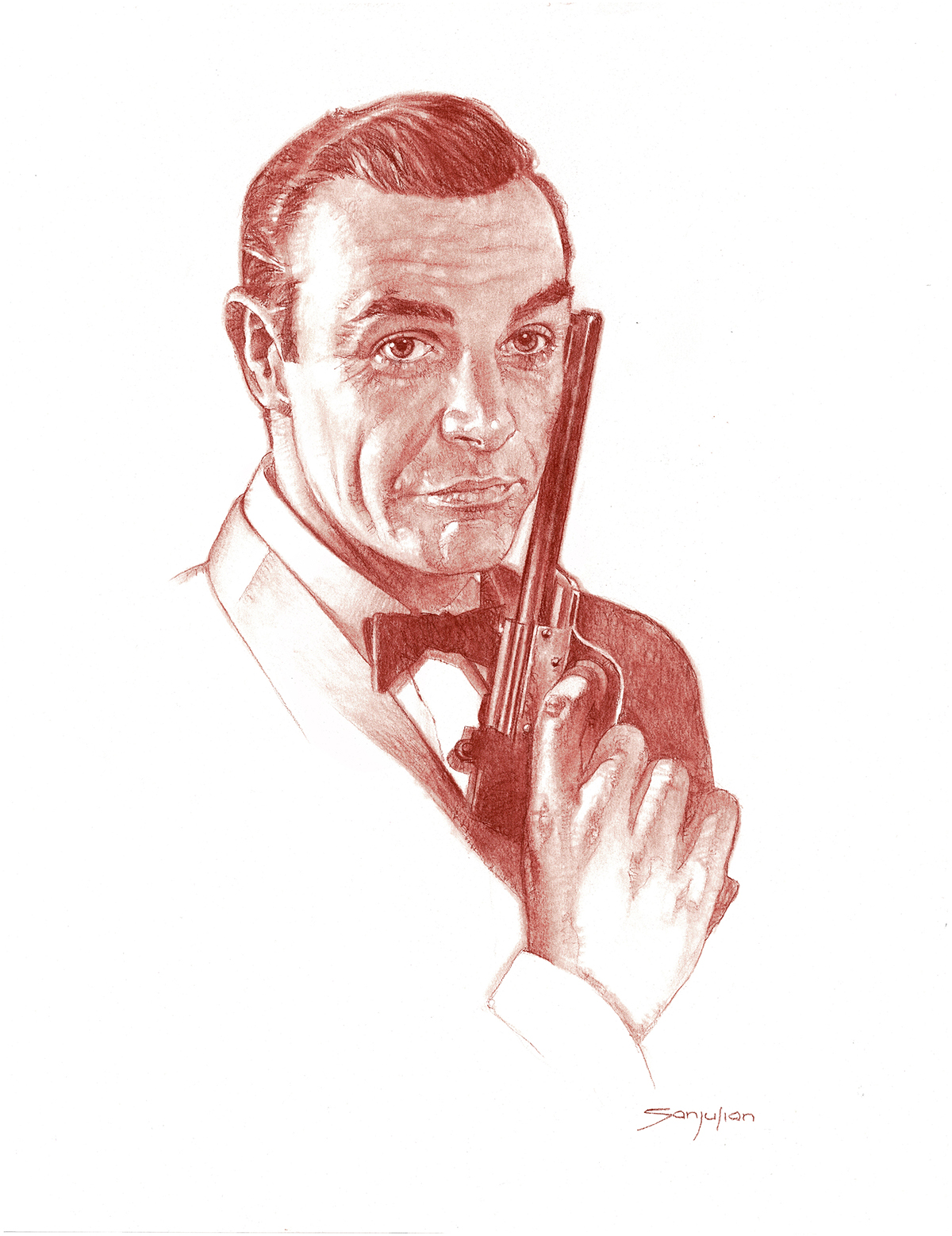 Sean Connery As James Bond Corner4art